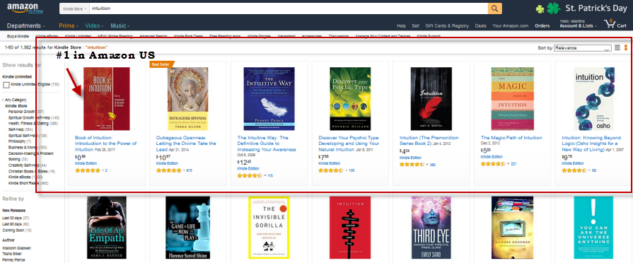 Book of Intuition #1 in Amazon US